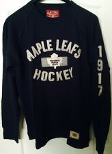 TORONTO MAPLE LEAFS MENS ENZYME WASHED LONG SLEEVE JERSEY TOP OLD TIME HOCKEY