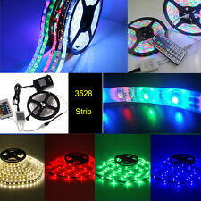 1-10M RGB 3528 SMD 60LEDS/M 300LED Light Strip Flexible + IR Remote + 12V power