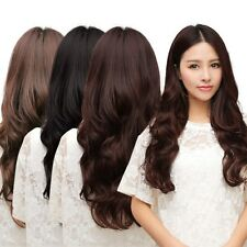 Woman Long Curl Curly Wavy Hair Extension One Piece 5 Clips In Hair Extensions