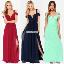 Pleated Bridesmaid Wedding Evening party prom formal V-neck Chiffon Mini dress