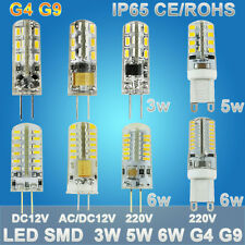 Crystal LED G4 G9 3W 5W 6W AC/DC 12V 110V 220V Lamp Spot Light Bulb Halogen SMD
