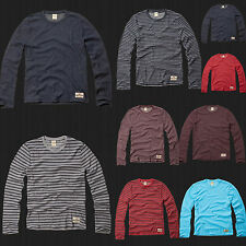 New HOLLISTER By Abercrombie Men Hobson Long Sleeve T Shirt  Size S M L XL NWT