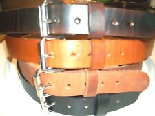 "HAND MADE HEAVY DUTY. TOOL HOLSTER. WORK. MENS LEATHER BELT 1.1/2"" WIDE"