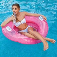 Intex 58833 Mesh Lounge Swimming Pool Floating Inflatable Float Chair Blue Ebay