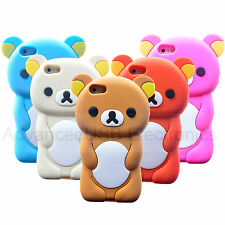 3D Rilakkuma Bear Mobile Phone Cover for Apple iPhone 5 5S 4S Soft Silicone Case