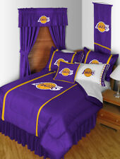 Los Angeles Lakers Bed in a Bag Curtains Valance Twin to King Size Sets