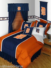 Detroit Tigers Bed in a Bag with Drapes & Valance Twin to King Size Sets
