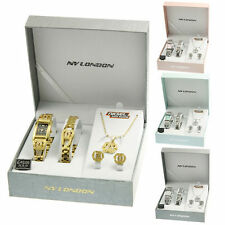 LADIES WOMEN GIRLS WATCH NECKLACE BRACELET EARRING BIRTHDAY ANNIVERSARY GIFT SET
