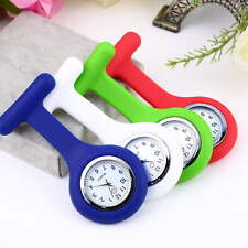 New Cute Silicone Nurse Watch Brooch Fob pocket Tunic Quartz Movement Watch HS