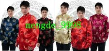 Traditional Chinese Festive Wedding Coats/Jackets Brocade Men Tang Suit Shirt 6