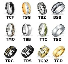 NEW Titanium Mens Wedding Band Comfort Fit Promise Ring Camo Gold Black Silver