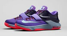 "**NIKE KD 7  ""LIGHTNING 534"" KIDS SIZE 3Y-7Y GS Free shipping  653996-535 PURPLE"