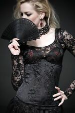 NEW Punk Rave Gothic Corset Under bust Black Top Y-524 ALL STOCK IN AUSTRALIA!