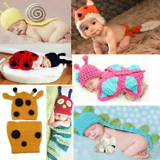Cute Baby Newborn Boy Girl Crochet Knitted Outfits Costume Set Photography Prop