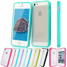 New TPU Bumper Frame With Matte Clear Hard Back Case Cover For iPhone 4 4S/5 5S