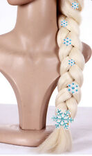 Frozen Snow Queen Elsa Wig Hairpins Elsa snowflakes Clip Hair
