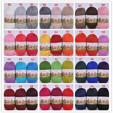 50g Handcraft Knitting Woolen Yarn Cashmere Baby Tricot Soft 36 Colors FKS