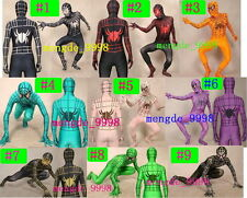 New 9 Color Lycra Spandex Spider-man Catsuit Costume Halloween Cosplay Suit S054