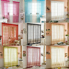 Heart Shape Tassel Drape Room Window Vestibule Door Wall Panel String Curtain