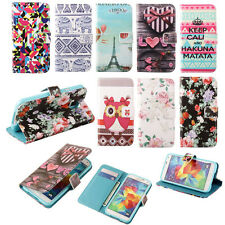 Leather Stand Wallet Flip Soft Case Cover Cute For Samsung Galaxy Various phone