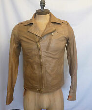 DIESEL MENS NEW JAGLI GIACCA TAN LEATHER JACKET  -100% GENUINE SALE SALE