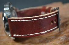 MA WATCH STRAP 26MM REAL CALF LEATHER PANERAI HANDMADE SPAIN MALAGA II-BURGUNDY