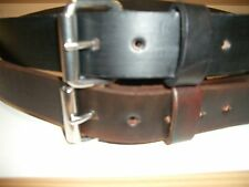 "LEATHER WORK BELT BY RANCH LAND HAND MADE BELT MENS 1.1/2"" WIDE"