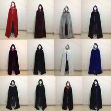 New Hooded Cloak Velvet Cape Wicca Medieva Wedding Shawl Sca Size S M L XL XXL
