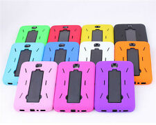 """New Heavy Duty Hybrid Silicone Cover Hard Case W/ Stand For Samsung Tab3 4 7"""" 8"""""""