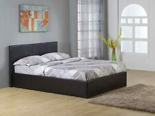 Siesta 3ft 4ft 4ft6 5ft Ottoman Storage or None Storage Bed Black Brown White