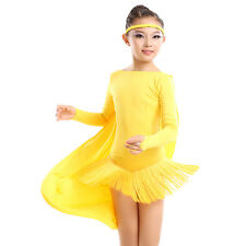 NEW Childrens Latin Salsa Ballroom Dance Dress Girls Dancewear costumes #FY085
