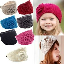 Fashion New Crochet Knit Headwrap Flower Winter Women Ear Warmer hairband
