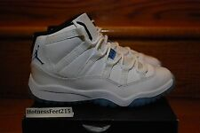NIKE AIR JORDAN 11 XI RETRO (PS) YOUTH 378039-117 WHITE LEGEND BLUE Sz: 10.5c-3y