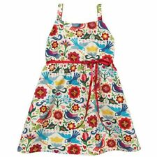 Kid's Hemet Mexican Palomas Halter Dress Red Doves Flowers