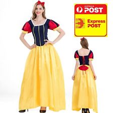 Deluxe Snow White Adult Disney Costume Long Dress + Hairbow