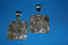 Alex Sanchez Sterling Silver Petroglyph Pendant - 2 Variations Available