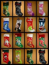 CHARACTER CHRISTMAS HOLIDAY STOCKINGS BRAND NEW WITH TAGS ***BUY 3 GET 1 FREE***