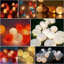 On Sale 3M Wedding Party Decor Cotton String Line Christmas Light 20 Balls