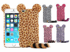 "Fashion 3D Cute Leopard With Tail PC Case Cover Skin for 4.7"" Apple iPhone 6"