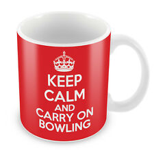 KEEP CALM and Carry on Bowling - Coffee Cup Gift Idea present hobby sports