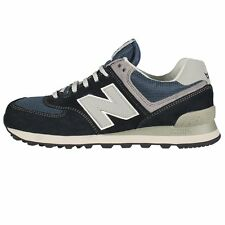 New Balance ML574 Suede Trainers Navy