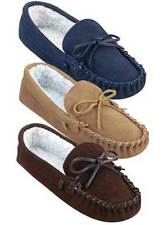 *NEW* Genuine Suede Men's Indoor Moccasins in Brown or Tan/Several Popular Sizes
