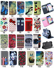 Fashion Flip Vintage Cute Stand Wallet PU Leather Hybrid Case Cover For Samsung