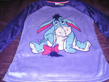 Disney Eeyore Womans Minky 2 Piece Pajama Set