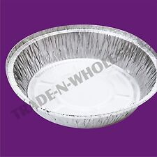 INDIVIDUAL DEEP FOIL PIE DISHES, CASES, ROUND, NO 12 CONTAINER, DISPOSABLE DISH