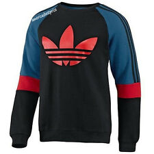 ADIDAS ORIGINALS MENS LL2 ART CREWNECK SWEASTHIRT,NWT,BLACK,RETAIL$75,VERY NICE