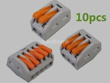 10PCS 2/3/5 Wire Insulated Universal Wire Terminal Connector reuseable cable New