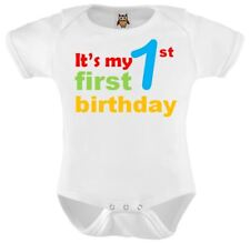 Personalised Baby Vest Bodysuit Its My First 1st  Birthday New Baby Gift