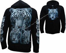 New Siberian Bengal Tiger With Cubs Zip Zipped Hoodie Hoody Hooded Jacket M-XXL