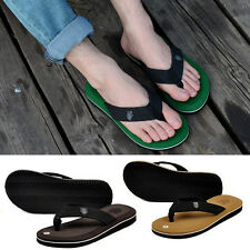 US Size 7-11 Fashion Men Flip Flops Casual Sandals Slipper Beach Home Flat Shoes